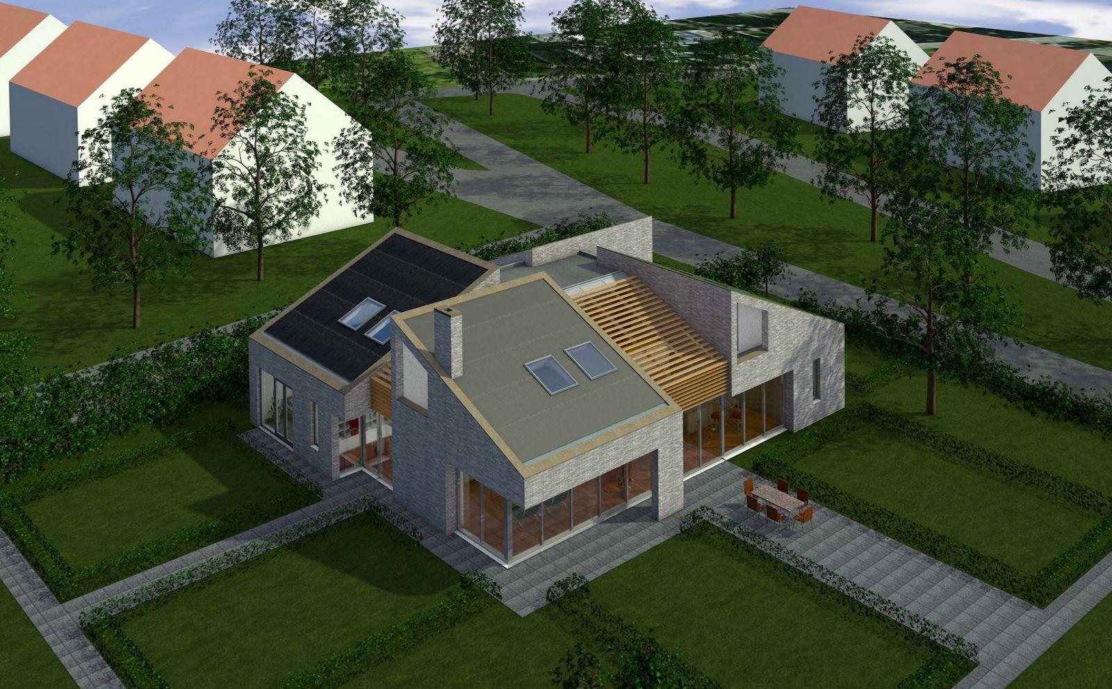 Duurzame villa totaaloverzicht