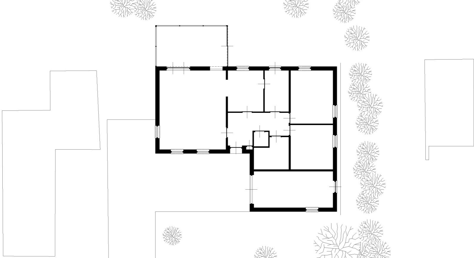 plattegrond bestaande bungalow