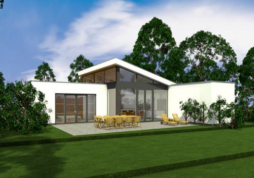 bouw bungalow Stiphout gestart