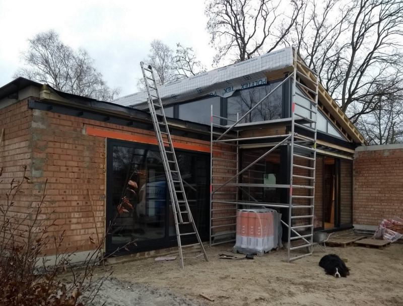 Bouw bungalow Stiphout vordert gestaag